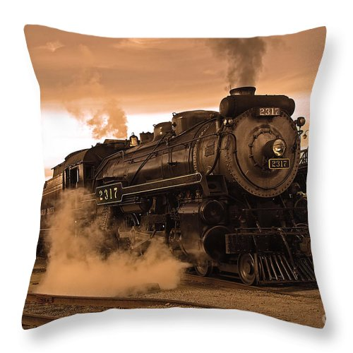 Pennsylvania Throw Pillow featuring the photograph Steamtown Engine 2317 by Rich Walter
