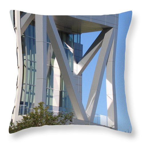 Steel Throw Pillow featuring the photograph Steel Square by Denise Keegan Frawley