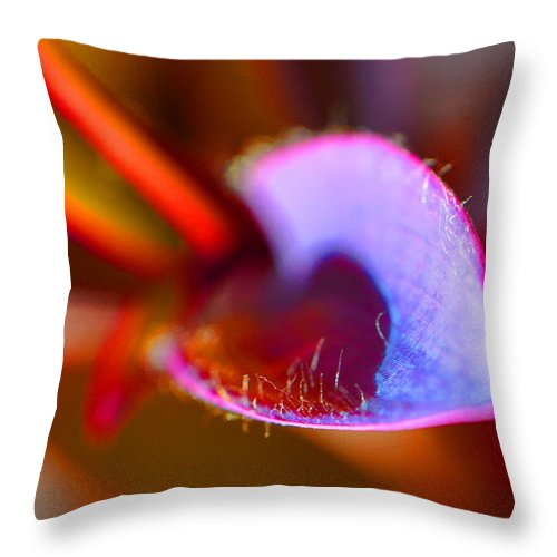 Plant Throw Pillow featuring the photograph Stepping Out by Christine Stonebridge