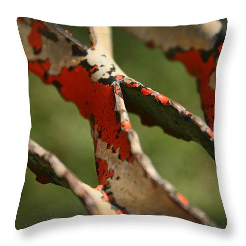 Step Throw Pillow featuring the photograph Stepping Up Abstract by Kathy Clark
