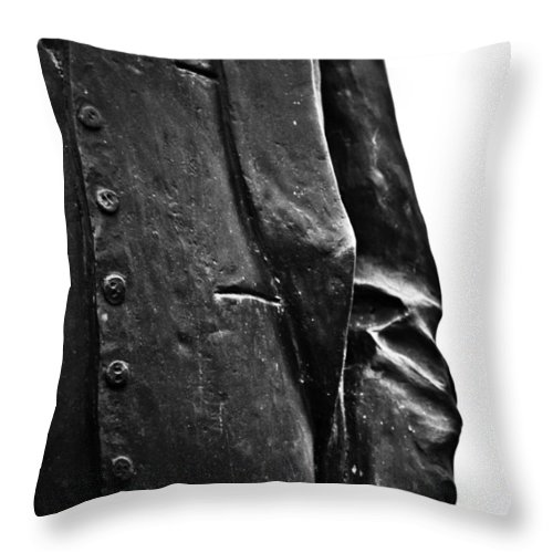 Black And White World Photographer Throw Pillow featuring the photograph Stiff Colar by The Artist Project