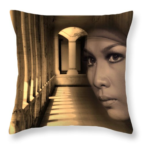 Pillars Throw Pillow featuring the photograph Still Waiting For You by Charuhas Images