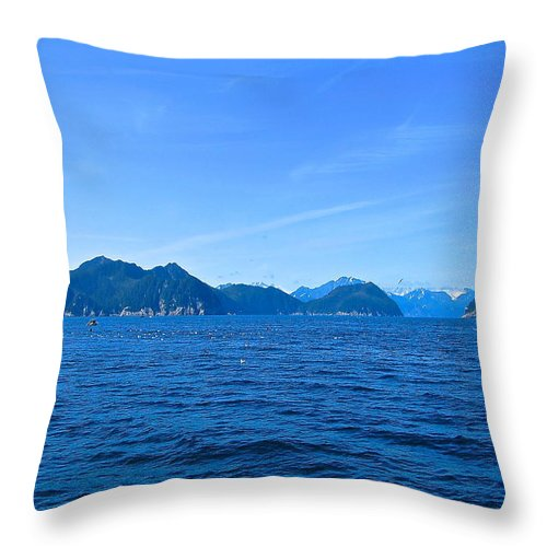 Alaska Throw Pillow featuring the photograph Stimulating Blues by Michael Anthony