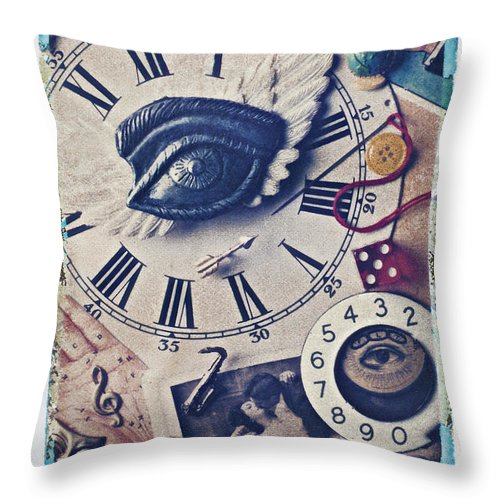 Stitch Throw Pillow featuring the photograph Stitch In Time by Garry Gay
