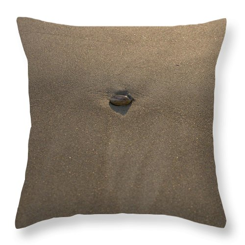 Blue Throw Pillow featuring the photograph Stone And Sand by Michael Goyberg