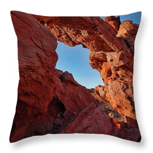 Nevada Throw Pillow featuring the photograph Stone Arch by Rick Berk