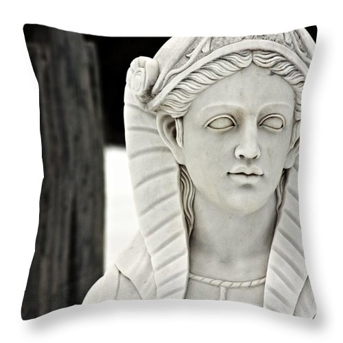 Stone Throw Pillow featuring the photograph Stone Lady by Erin Rosenblum