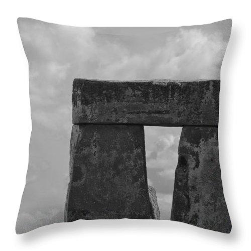 Stonehenge Throw Pillow featuring the photograph Stonehenge 19 by Maj Seda