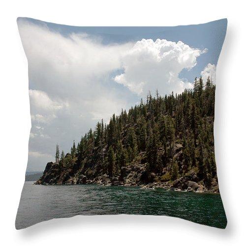 Usa Throw Pillow featuring the photograph Storm Ahead Lake Tahoe by LeeAnn McLaneGoetz McLaneGoetzStudioLLCcom