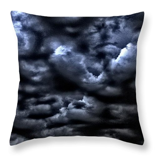Clouds Throw Pillow featuring the photograph Storm Is Here by One Rude Dawg Orcutt