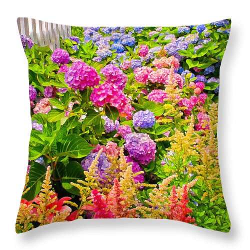 Flowers Throw Pillow featuring the photograph Storming The Garden Gate by Jim Moore