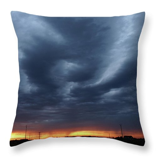 Storm Throw Pillow featuring the photograph Stormy Sky by Erik Tanghe