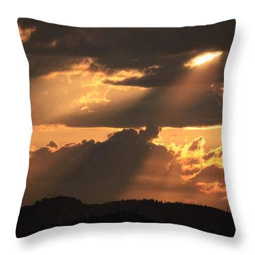 Sunset Throw Pillow featuring the photograph Stormy Sunset by Francesco Scali