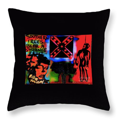 Jazz Throw Pillow featuring the painting Strange Fruit by Tony B Conscious
