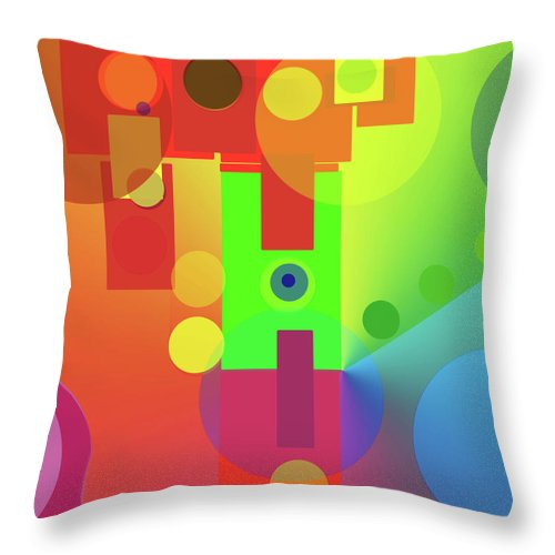 Abstract Throw Pillow featuring the digital art Strange Journey by Ian MacDonald
