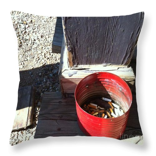 Tombstone Throw Pillow featuring the photograph Streets Of Tombstone 12 by Marlene Burns
