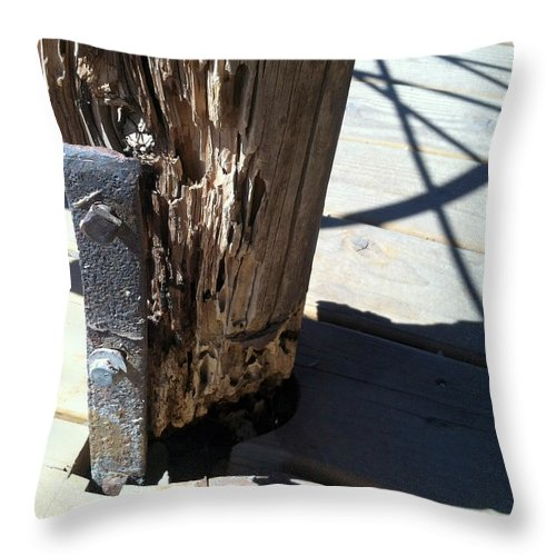 Tombstone Throw Pillow featuring the photograph Streets Of Tombstone 13 by Marlene Burns