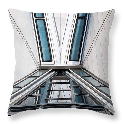 Structure Throw Pillow featuring the photograph Structure Reflections by Colleen Coccia