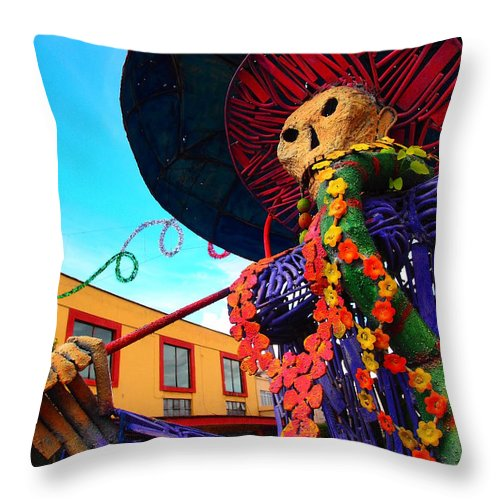 Strut Throw Pillow featuring the photograph Strut by Skip Hunt
