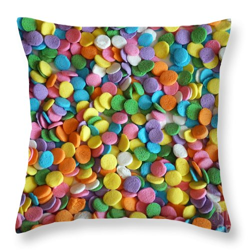 Sugar Confetti Throw Pillow featuring the photograph Sugar Confetti by Methune Hively