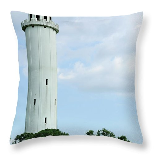 Sulfur Springs Water Tower Throw Pillow featuring the photograph Sulfur Springs Water Tower by Carolyn Marshall