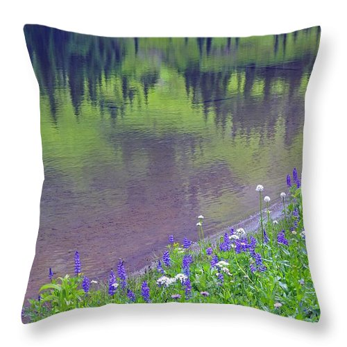 Blooming Throw Pillow featuring the photograph Summer Abstract At Tipsoo Lake by John Chao