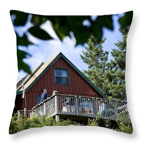 Camp Throw Pillow featuring the photograph Summer Camp by Jeff Galbraith