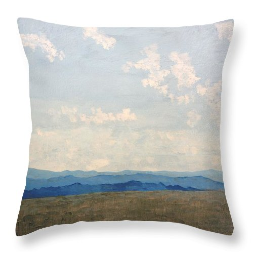 Blue Throw Pillow featuring the painting Summer Day by Kerry Beverly