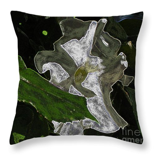 Flower Throw Pillow featuring the painting Summer Flower by Kami Catherman