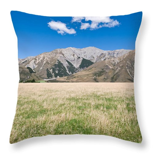Air Throw Pillow featuring the photograph Summer Landscape Blue Sky by U Schade