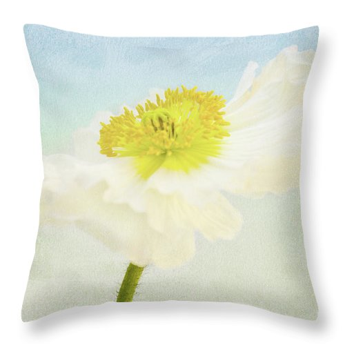 Poppy Flowers Throw Pillow featuring the photograph Summerfeeling by Angela Doelling AD DESIGN Photo and PhotoArt