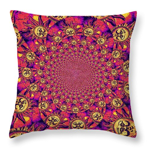 Abstract Throw Pillow featuring the photograph Sun Pattern by Chris Berry