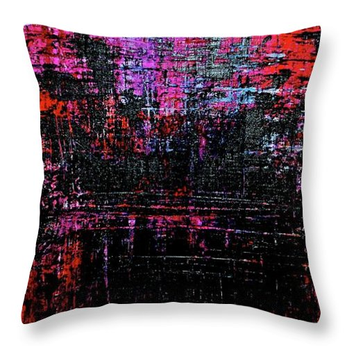 Art Throw Pillow featuring the painting Sun Rise On Fire by Jamie Lawrence