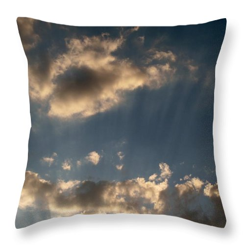 Clods Throw Pillow featuring the photograph Sunbeams From Heaven by Michele Nelson