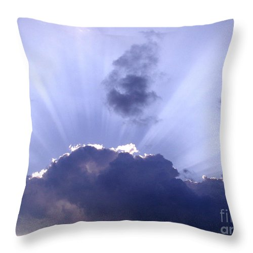 Clouds Throw Pillow featuring the photograph Sunburst by Jim Caudill
