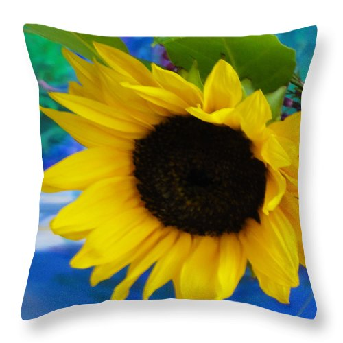 Sunflower Throw Pillow featuring the photograph Sunflower Too by Shannon Grissom