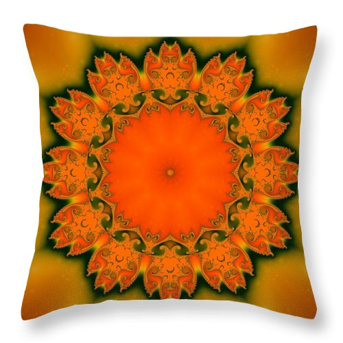 Fractal Throw Pillow featuring the digital art Sunny I by Richard Ortolano