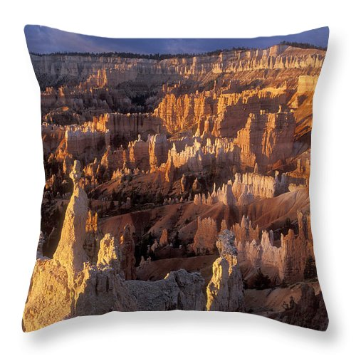 Bronstein Throw Pillow featuring the photograph Sunrise At Brice Canyon Amphitheatre by Sandra Bronstein