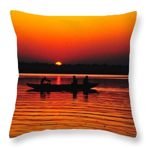 Sunrise Throw Pillow featuring the photograph Sunrise At Indian Sea by Sumit Mehndiratta