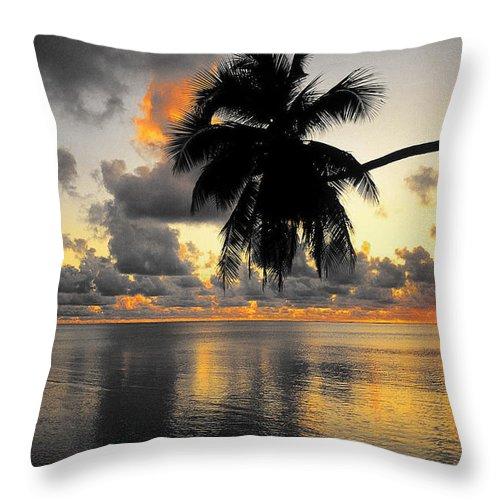 Sunrise Throw Pillow featuring the photograph Sunrise At Sea 3 by Sumit Mehndiratta