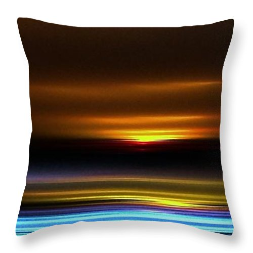 Sunup Throw Pillow featuring the digital art Sunrise by Greg Moores