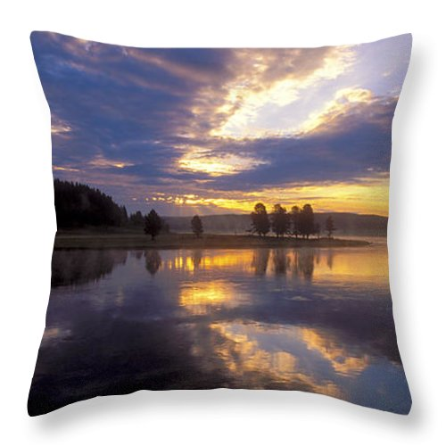 Bronstein Throw Pillow featuring the photograph Sunrise Reflections by Sandra Bronstein