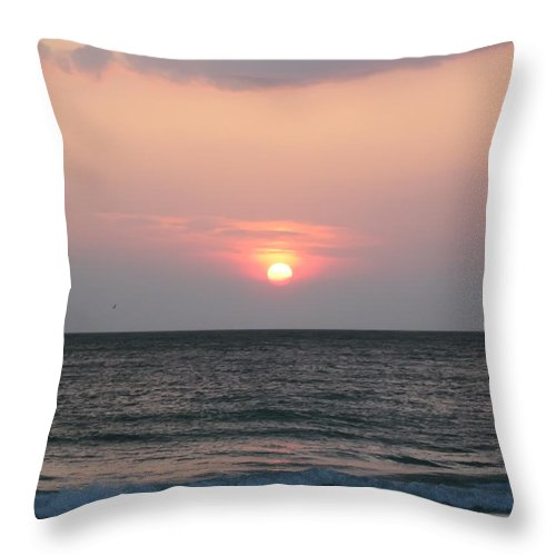 Florida Throw Pillow featuring the photograph Sunset - Florida Style by Bill Cannon