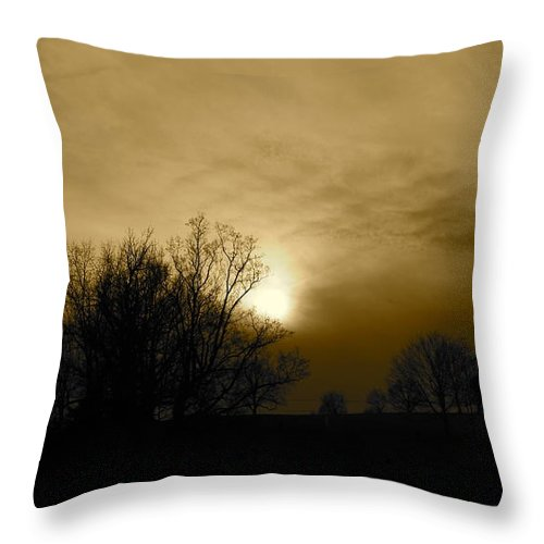 Sunset Throw Pillow featuring the photograph Sunset 2 by Kume Bryant