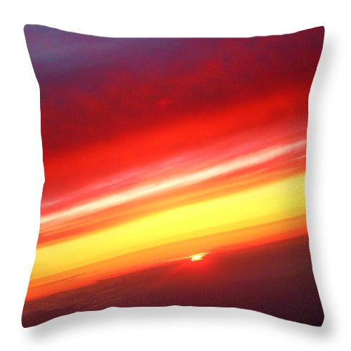 Sunset Throw Pillow featuring the photograph Sunset Above The Clouds by James BO Insogna