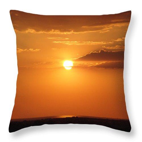 Sunset Throw Pillow featuring the photograph Sunset by Alessandro Della Pietra