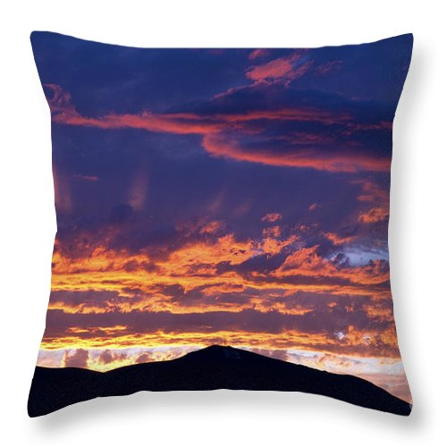 United States Throw Pillow featuring the photograph Sunset by David R Frazier and Photo Researchers