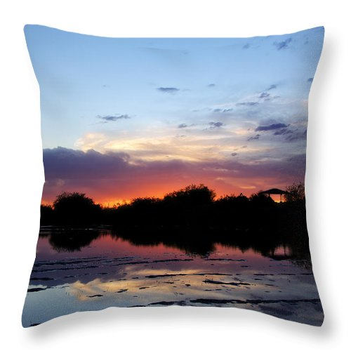 Sunset Throw Pillow featuring the photograph Sunset Glow by Saija Lehtonen