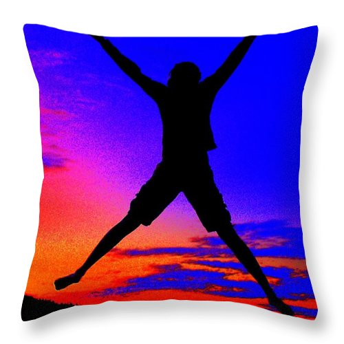 Sunset Throw Pillow featuring the photograph Sunset Jubilation by Patrick Witz