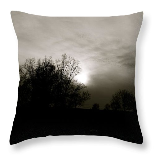Sunset Throw Pillow featuring the photograph Sunset by Kume Bryant